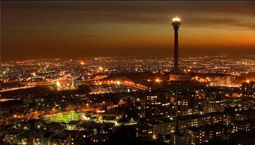 Tehran en noche