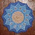 020.Plato iraní de cobre esmaltado, pintado a mano