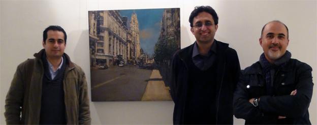 از راست به چپ سعید رجبی، ایمان ملکی، شهراد ملک فاضلی