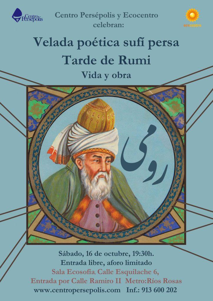 Velada poética sufí persa, vida y obra de Rumi-2